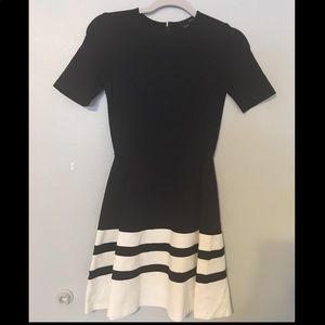 High-quality, black&white, fitted dress